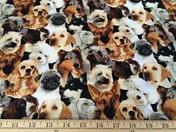Beautiful Dogs Cotton Fabric Fabric Traditions Patty Reed BY the Yard BFab