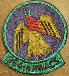 Usaf Air Force 964th Awacs Patch Aacs Airborne Air Control Squadron Tinker Afb