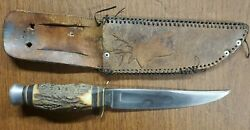 Edge Brand Solingen Germany 473 Stag Hunting Skinning Bowie Knife