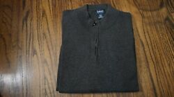 Harbor Bay Quarter-zip Pullover Sweater Gray 3xlt Big And Tall