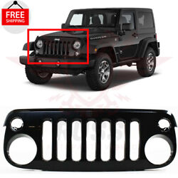 New Front Grill Grille Assembly Black Shell For 2007-17 Jeep Wrangler Ch1200313
