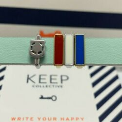 Keep Collective Police Badge With Red, White And Blue Color Bars - Retired