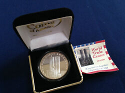 2001 God Bless America Land Of The Free Silver Art Medal P2516