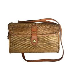 Beleka Handwoven Rattan Bag Shoulder for Women Khas Bali $43.22