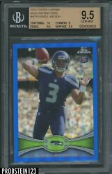2012 Topps Chrome Blue Refractor Russell Wilson Rc Rookie /199 Bgs 9.5 W/ 10