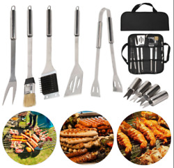 Stainless Steel Bbq Grill Tools Set Utensils Accessories Outdoor Grilling New