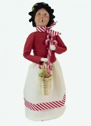 2021 Byers Choice Woman W/ Candy Canes New Design Mint Store Stock Item 4857