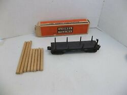 Postwar Lionel Trains 3460 And 3461 Automatic Lumber Car With Original Box And Wood