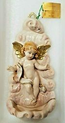 Fontanini By Roman Angel/cherub With Waterfont Hand Painted 1994 Superb