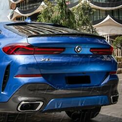 Fit 2015-2019 Bmw X6 F16 P-style Real Carbon Fiber Rear Trunk Lid Spoiler Wing