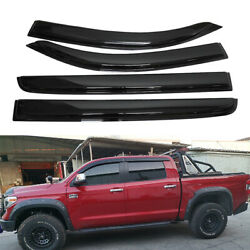 Fits Toyota Tundra 2007-2021 Rain Guard Window Visors Door Deflectors Vent Shade