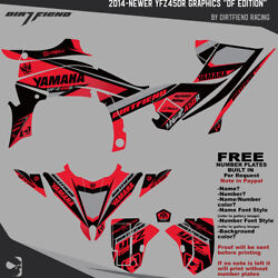 Yfz450r Graphics 2014-newer Dfr Df Edition Black Red Sides Fenders