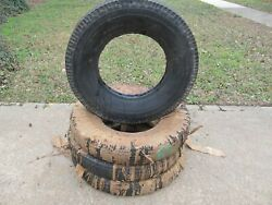 Nos 1950and039s Goodyear Deluxe Super Cushion 7.10-15 Wide White Tire Set Of 4