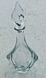 Daum France Crystal Decanter Swirl Flame Stopper 13 Tall X 6