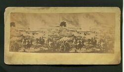 Early Stereoview Pickett's Charge 3rd Day Of Fight By W H Tipton Gettysburg Pa