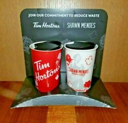 Shawn Mendes Tim Hortons Ceramic Coffee Travel Cup Mug - Red And White