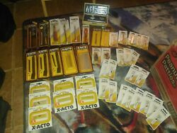Vintage X-acto Knife And Blade Lot 43 Total Pieces . All New/old Stock