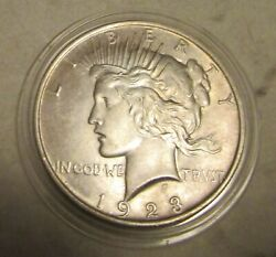 1923 Silver Peace Liberty Dollar United States Coin Fine+ But Not Uncirculated