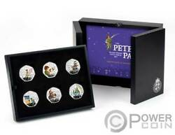Peter Pan 90th Anniversary Set 6 Silver Coins 50 Pence Isle Of Man 2020