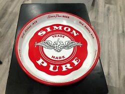 """Simon Pure Beer Tray 13"""" – """"the Best Taste In Town"""""""