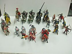 Lot Of Schleich Bbi And Papo Medieval Horses Knights And Fantasy Figures W/ Weapons