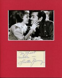 Loretta Young Call Of The Wild Signed Autograph Photo Display With Clark Gable