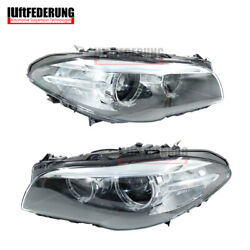 Luftfederung 14-17 Pair Front Xenon Led Headlight Fits Bmw 5 Seires F18 F11 F10
