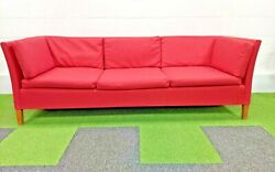 Vintage Mid Century Danish Teak Sofa 1972 - Newly Upholstered And Free Deliver