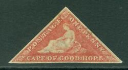 Sg 5b Cape Of Good Hope 1855-58. 1d Deep Rose-red. A Fresh Mounted Mint...