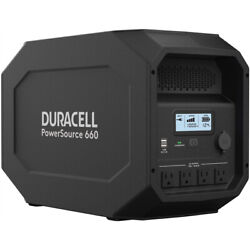 Duracell Powersource 660 Quiet Portable Power 12v Agm Sla And Solar Generator