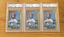 3 1998 Topps Chrome Peyton Manning 165 Colts Rookie Card Psa 8 Lot High End
