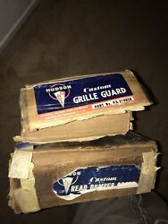 Nos 1948 , 1949 Hudson Custom Accessory Bumper Guards Front And Rear