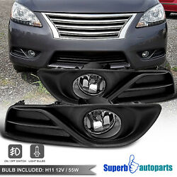 For 2013-2015 Nissan Sentra Bumper Fog Driving Lights W/ Switch