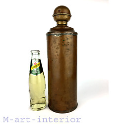 Antique Picknick Flask Copper Bottle Hot Water Flasche Germany Thuringia Ca 1900