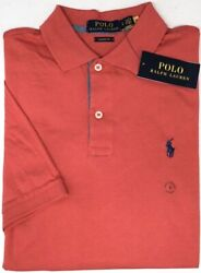 Polo Ralph Lauren Red Short Sleeve Shirt Mens Classic Fit NWT Cotton NEW $79 $32.99