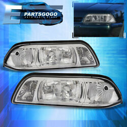 For 87-93 Mustang Replacement 1pc Head Lights Lh Rh + Corner Lamp Assembly Clear