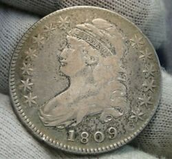 1809 Capped Bust Half Dollar 50 Cents - Nice Coin Free Shipping 40