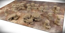 Wargame Terrain - Spires And Plateaus Deluxe Bundle 10 Pieces - Dandd Rpg Aos 40k