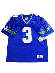 Seattle Seahawks Vintage 90s Rick Mirer Apex One Home Blue Jersey Large Nwt