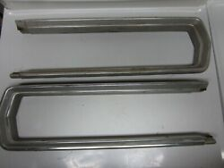 66 Ford Thunderbird Rh Lh Tail Light Outer Stainless Trim Mouldings Used