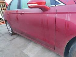 Red Passenger Fr Door W/o Acoustic Glass Pw Pl Pm 000 Fits 2014 Ford Fusion Oem