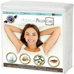 American Pillowcase Pillow Protectors Zippered Body Dust Mite Bacteria