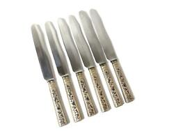Dining Knives With Silver Handles 6 Pcs. Russian Empire Moscow Year 1842.