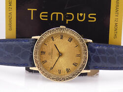 Movado Corteccia By Zenith 18 Kt Solid Gold Manual Years And03980 Elegant Watch