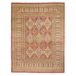 9and0392x11and03910 Red New Pak Farsian 300 Kpsi Vegetable Dyes Hand Knotted Rug R49614