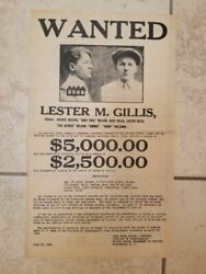 Baby Face Nelson Wanted Poster Original 1934