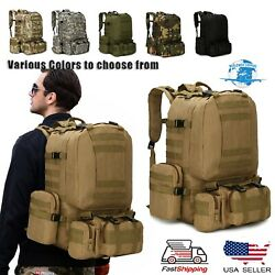 Backpack 60l Outdoor Military Camping Bag Travel Hiking Molle Tactical Rucksack
