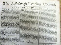 1760 French And Indian War Newspaper Canada Conquered By Great Britain From France