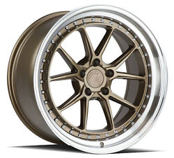 19x11 Aodhan Ds08 5x114.3 +15 Flow Forged Bronze Wheels Set Of 4