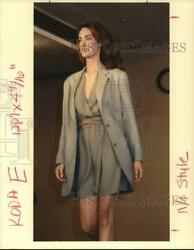 1990 Press Photo Model Wearing Calvin Women#x27;s Suit at Fashion Show hpa13190 $10.00